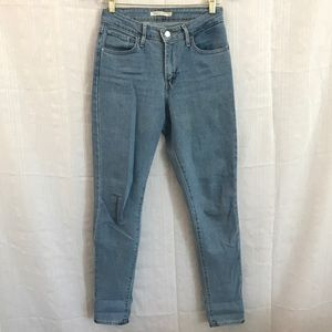 Levi's 721 light wash high rise skinny